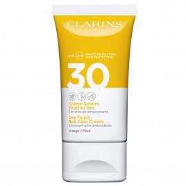 Crème Solaire Visage SPF 30 - CLARINS|Toucher Sec - Enrichie en Antioxydants