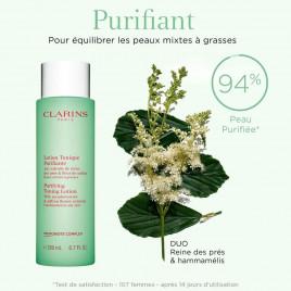 Lotion Tonique Purifiante - CLARINS|Aux extraits de reine des prés & fleur de safran - Peaux mixtes à grasses
